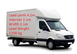 home removal van size